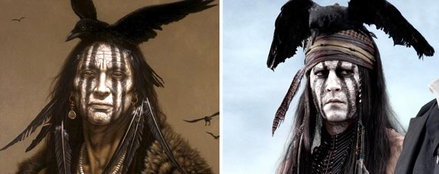 Johnny Depp reveals why Tonto puts a bird on it