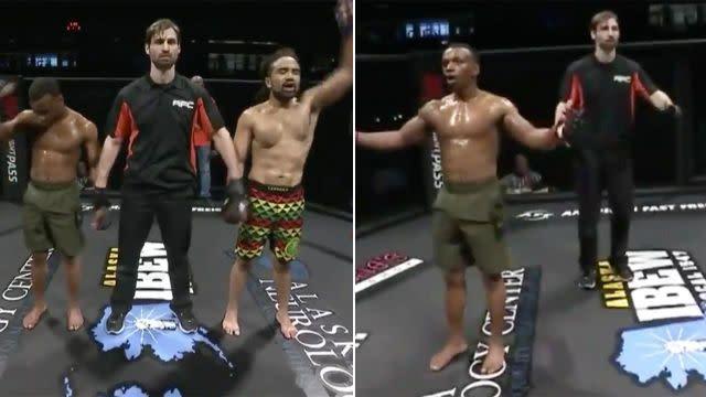 He got it wrong twice! Image: UFC