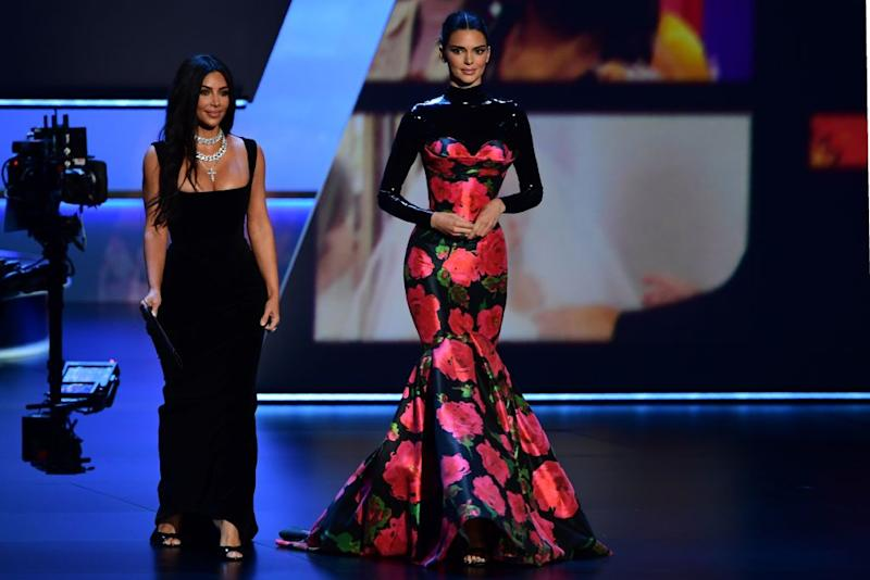 Twitter users aren't sure what to make of Kendall Jenner's Richard Quinn dress [Photo: Getty]