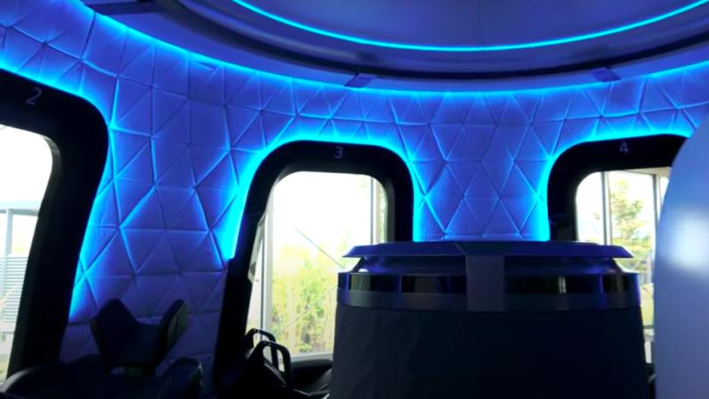 Blue Origin crew capsule interior