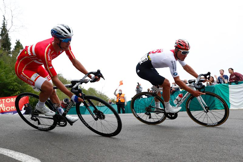 The breakaway during the Imola World Championships