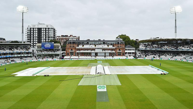 Rain wreaked havoc on the second Test at Lord's. (Photo by GLYN KIRK/AFP/Getty Images)