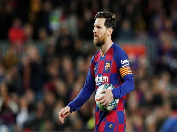 Argentine striker Lionel Messi