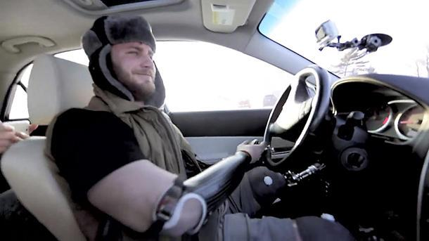 How a quadruple amputee goes snow drifting, Ken Block style
