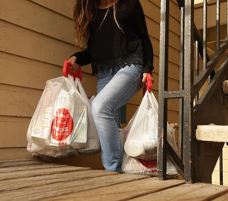 Handzy Grocery Bag Holder Handle. (Image via Amazon)