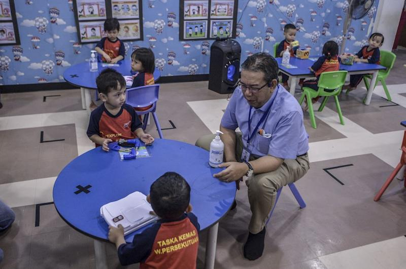 Rural Development Minister Datuk Dr Abd Latiff Ahmad is pictured during a visit to a preschool in Putrajaya July 1, 2020. — Picture by Shafwan Zaidon