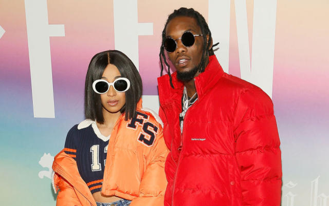 Cardi B just got engaged to Offset, and her ring looks like it must weigh five pounds