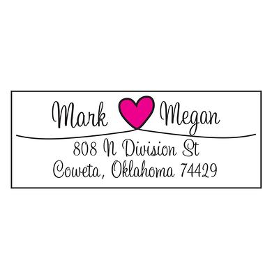 Wedding Mr We Print and Mail to You! Love Hearts Return Address Labels Personalized Custom /& Mrs