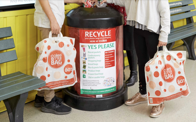 A picture of Coles' in-store REDcycle bin. Source: Supplied
