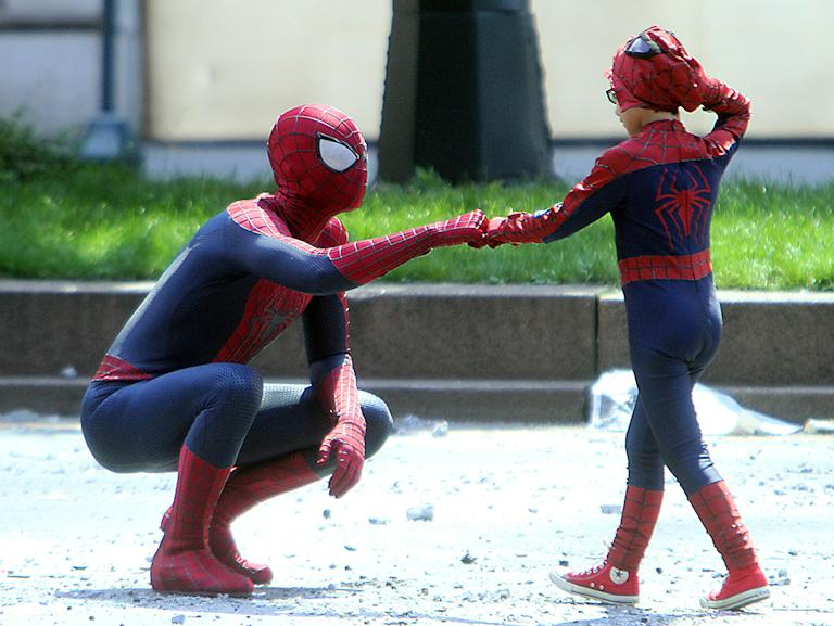 'The Amazing Spider-Man 2' film set, New York, America - 27 May 2013