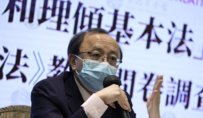 Eric Cheung Tat-ming, principal law lecturer at the University of Hong Kong, speaks at an event in June. Photo: K.Y. Cheng