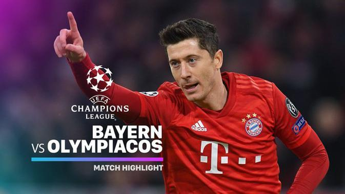 VIDEO: Highlights Liga Champions, Bayern Munchen Vs Olympiakos 2-0