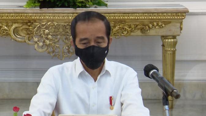 Presiden Jokowi dalam rapat terbatas. (Foto: Tangkapan Layar YouTube Sekretariat Presiden)