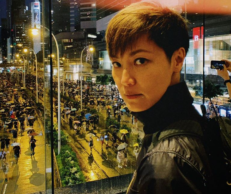 Denise Ho is one of the Hong Kong's celebrities who have voiced their concern over the protesters' standoff with police at Hong Kong Polytechnic University. — Picture via Facebook/HOCC