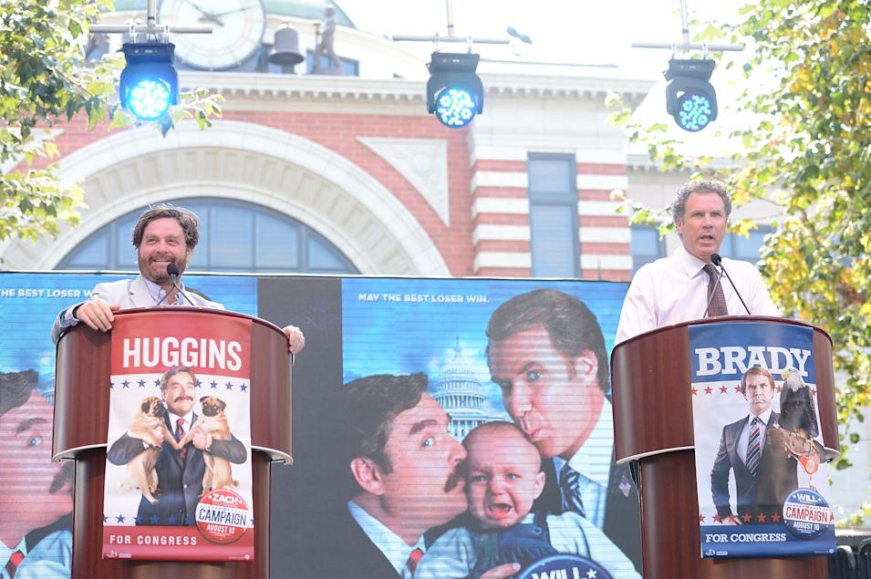 """Press Conference For The Launch Of Warner Bros. Pictures' """"The Campaign"""" Whistle Stop Tour"""