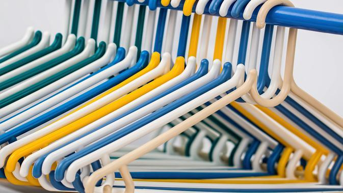 Ilustrasi gantungan baju (dok. Pixabay)