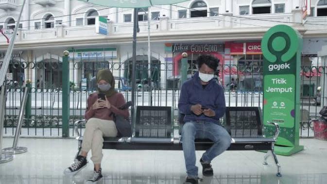 Layanan GoRide Instan hadir di Stasiun Juanda, Stasiun Sudirman, Stasiun Tanah Abang, dan segera menyusul di Stasiun Pasar Senen.Dok: Gojek
