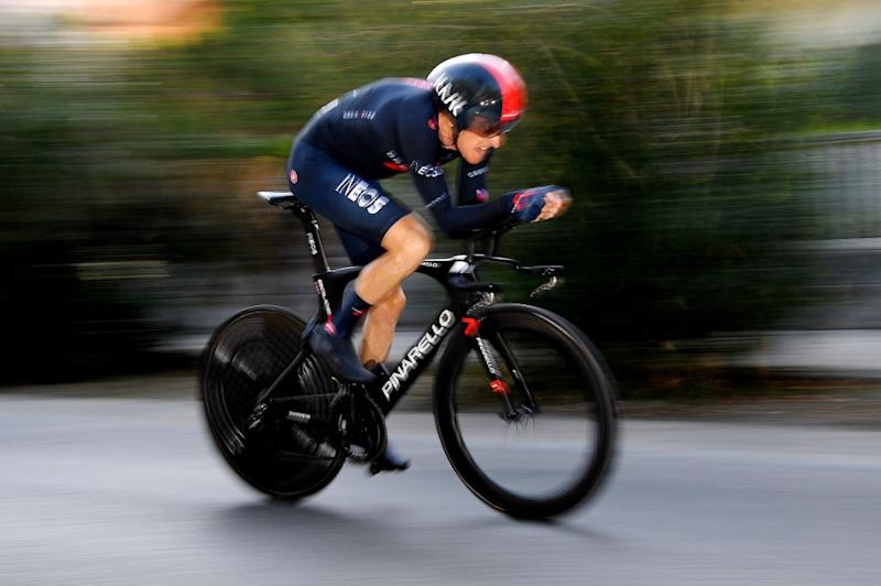 SAN BENEDETTO DEL TRONTO ITALY SEPTEMBER 14 Geraint Thomas of The United Kingdom and Team INEOS Grenadiers during the 55th TirrenoAdriatico 2020 Stage 8 a 101km Individual Time Trial in San Benedetto del Tronto ITT TirrenAdriatico on September 14 2020 in San Benedetto del Tronto Italy Photo by Justin SetterfieldGetty Images