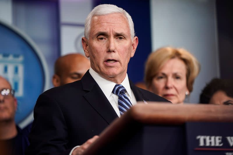 VP Pence says will be tested for coronavirus after aide tested positive