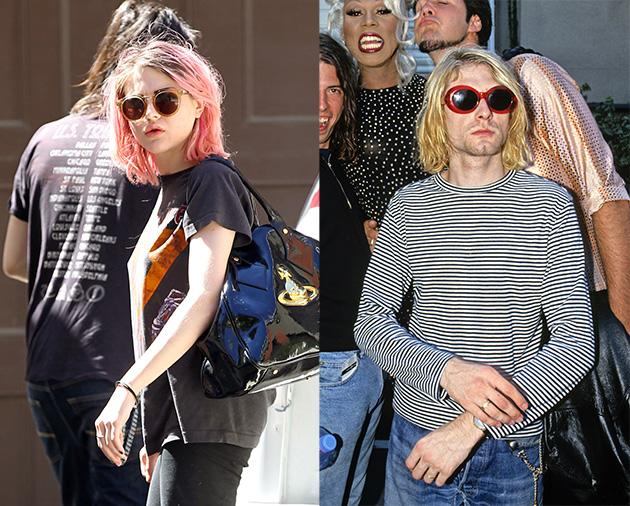 Frances Bean Cobain Channels Dad in Pink Hair and Grunge Outfit