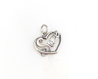 Letter V Passion Initial Coin Charm Pendant Necklace #925 Sterling Silver #Azaggi N0595S/_V