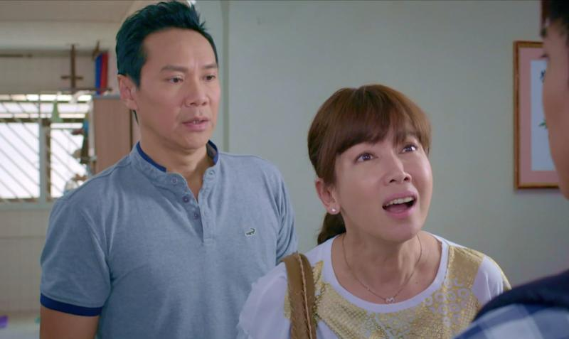 Actors Kym Ng (right) and Brandon Wong behave in a homophobic manner in some of their scenes in Mediacorp drama My Guardian Angels. The TV series has drawn flak from LGBTQ viewers for characters and scenes that perpetuate negative stereotypes of gay people.