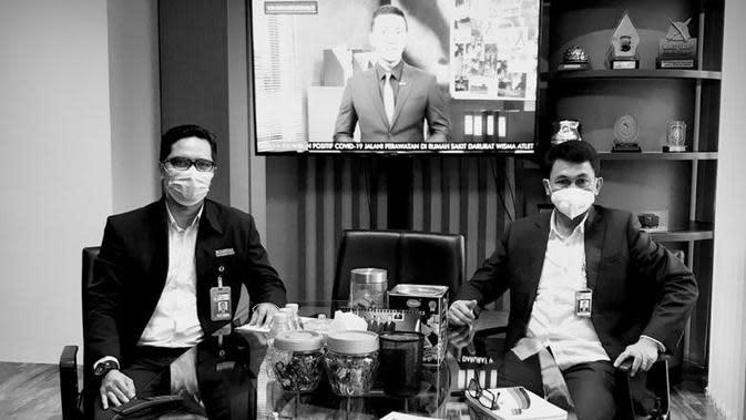Wakil Ketua KPK Nawawi Pomolango (kanan) dan Kepala Biro Humas KPK Febri Diansyah (kiri). (Dok Istimewa)