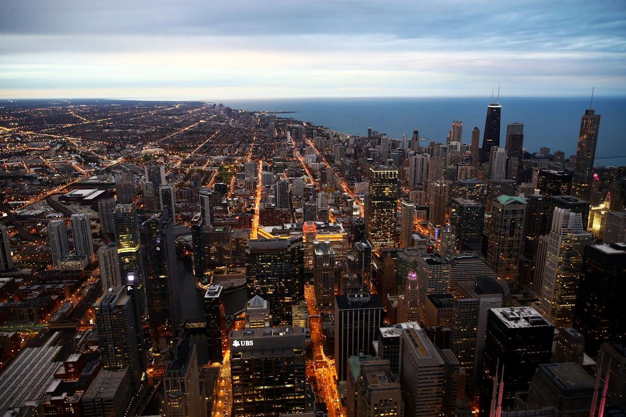 <p>On any clear day, you can see four states from the Skydeck of Willis Tower: Illinois, Michigan, Wisconsin, and Indiana.</p>
