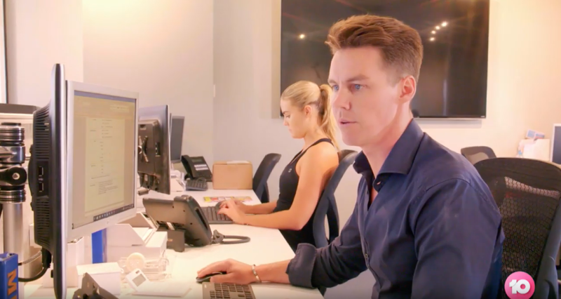 Her reality show will reveal a behind-the-scenes look at life in the Sweaty Betty PR office, where her husband Oliver Curtis is also employed. Photo: Channel Ten