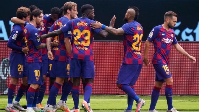 Barcelona kembali membuang poin saat menghadapi Celta Vigo (AFP)