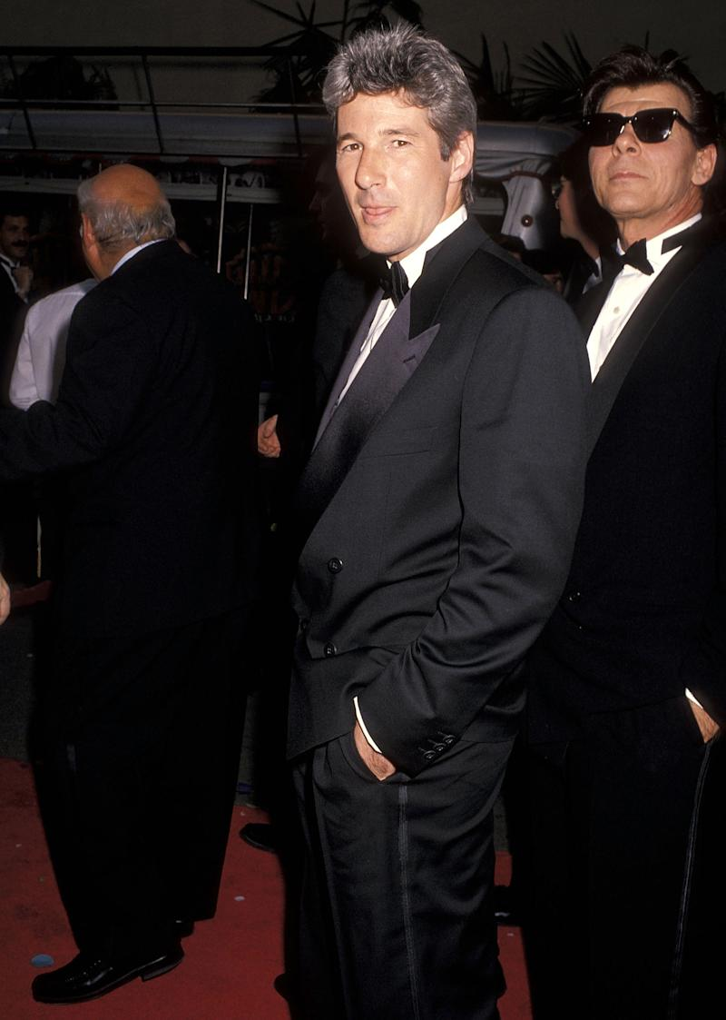 "Actor Richard Gere and Hollywood agent Ed Limato attend ""Celebration of Tradition"" A Gala Event Gathering Warner Bros. Stars on June 2, 1990 at the Warner Bros. Studios in Burbank, California."