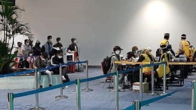 Pekerja Migran di Bandara Soekarno Hatta. Dok AP II