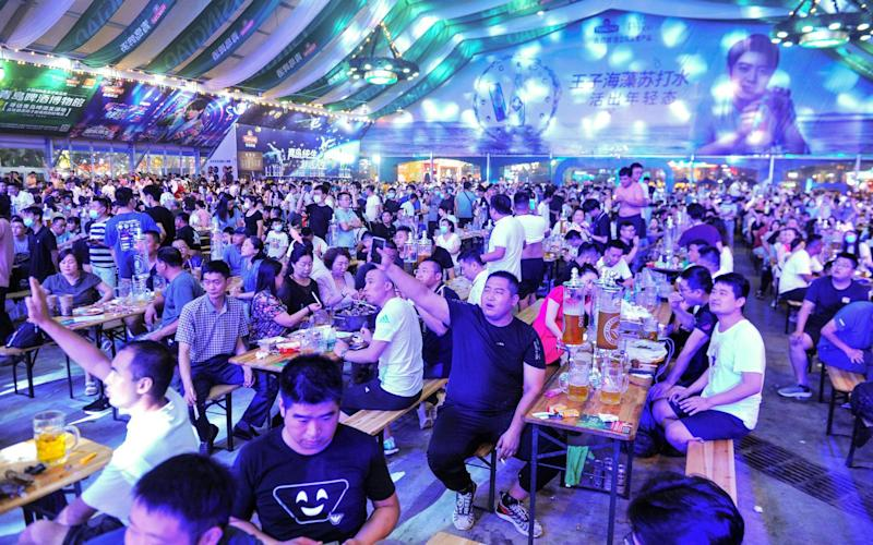 The annual Qingdao Beer Festival in Qingdao, in China's eastern Shandong province - AFP