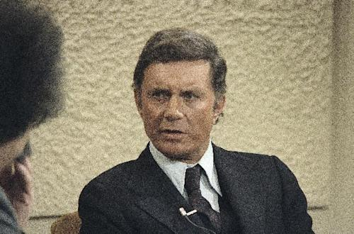 """FILE - In this March 1, 1978 file photo, actor Cliff Robertson is interviewed by Gene Shalit on NBC's """"Today Show."""" Robertson, who played John F. Kennedy in """"PT-109,"""" won an Oscar for """"Charly"""" and was famously victimized in a 1977 Hollywood forgery scandal, died Saturday. He was 88. (AP Photo/David Pickoff)"""