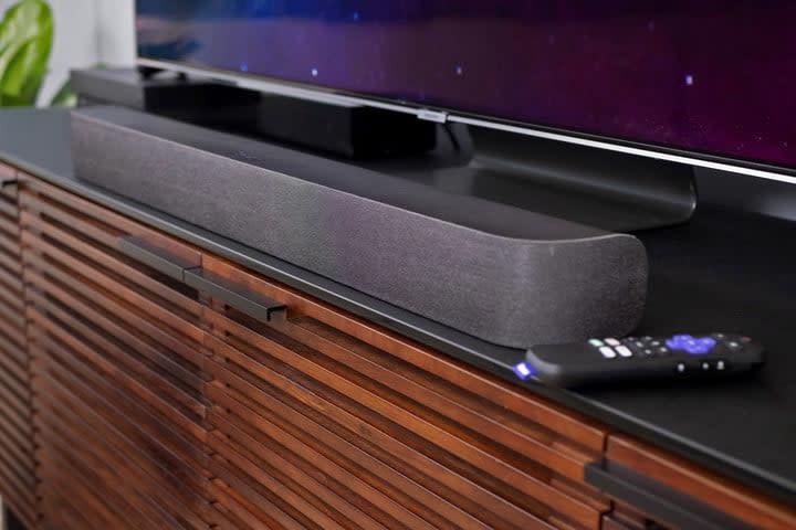 Roku smart soundbar credenza side