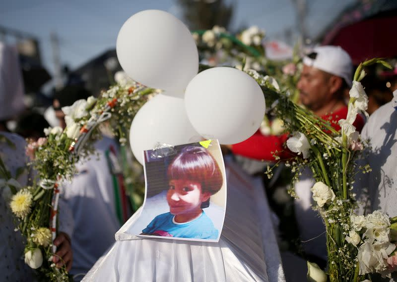 FILE PHOTO: Funeral of 7-year-old Fatima Cecilia Aldrighett in Mexico City
