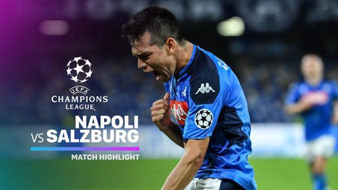 VIDEO: Highlights Liga Champions, Napoli Vs Salzburg 1-1