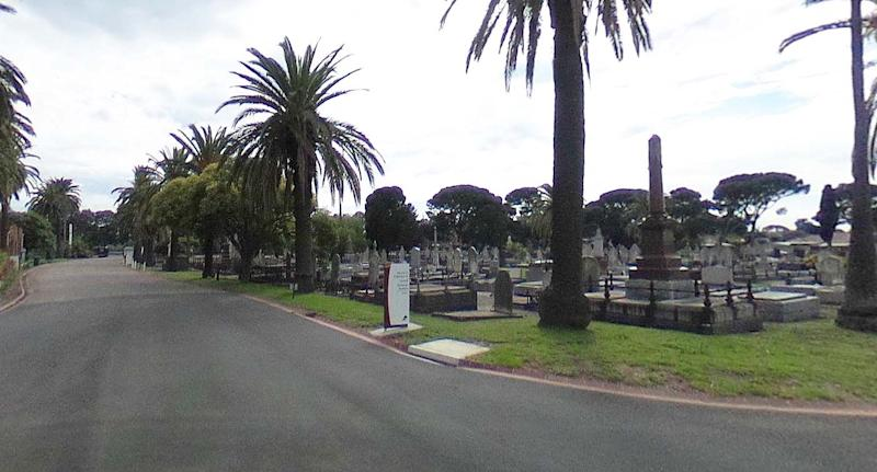 Williamstown cemetery where the attack took place. Source: Google Maps