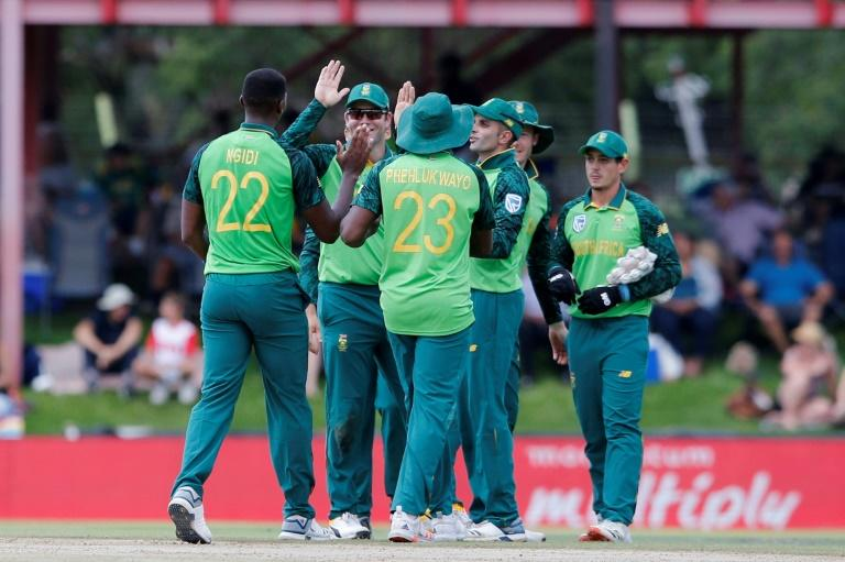 Ngidi (L) claimed his first ODI five-wicket haul