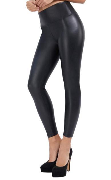Samuel Women's Black Faux Leather Leggings