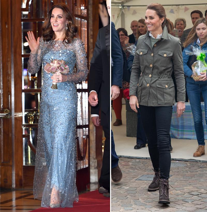One fan was wondering why Kate swapped her Elsa gown for a country look. Photo: Getty Images