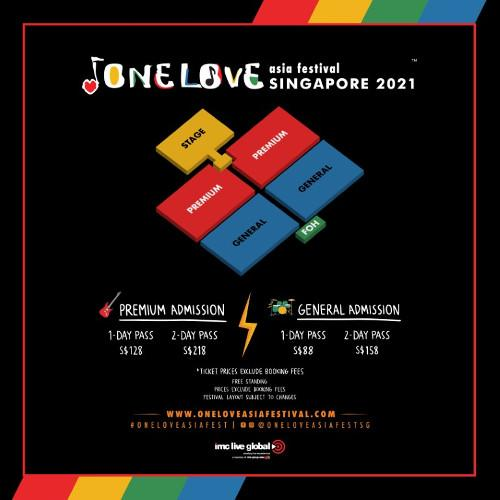 Here's the seatmap for One Love Asia Festival Singapore 2021.