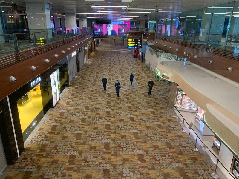 The transit area at Changi Airport Terminal 3 in July 2020. PHOTO: Nicholas Yong/Yahoo News Singapore