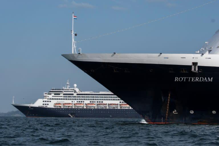 The Zaandam (L) and its sister ship, the Rotterdam