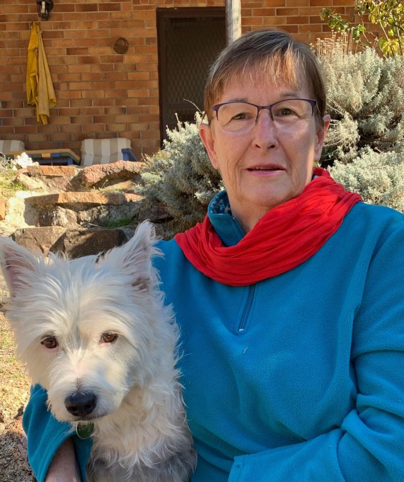 Stanthorpe mail contractor and her dog Barry. Source: Jenny Hillman