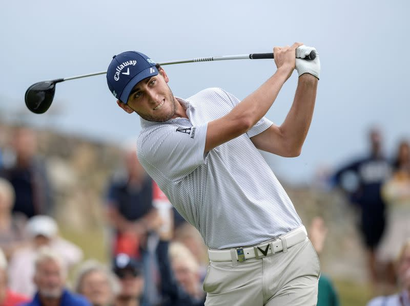 Renato Paratore of Italy on the first tee during the first round of Nordea Masters at Hills Golf Club, Gothenburg