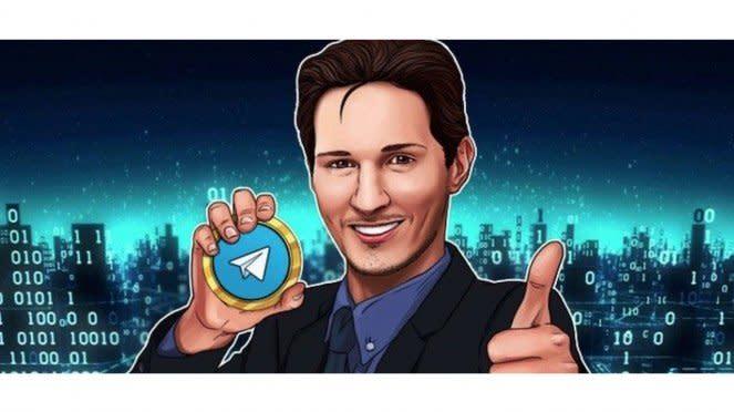 Pendiri Telegram Pavel Durov dengan Uang Kripto Gram.