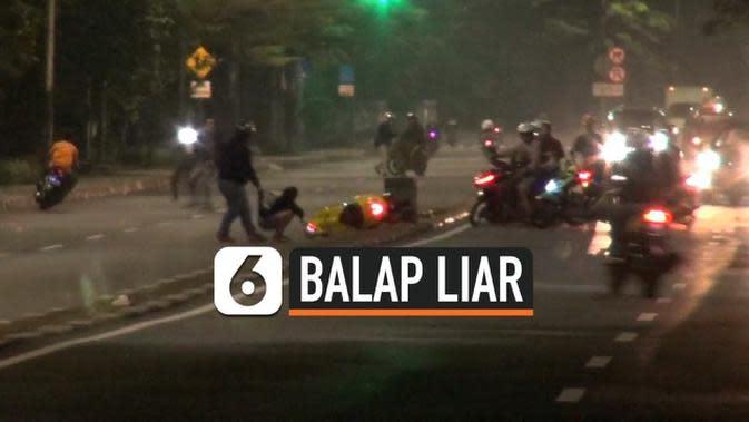 VIDEO: Lepas Tembakan, Polisi Bubarkan Balapan Liar di Taman Mini