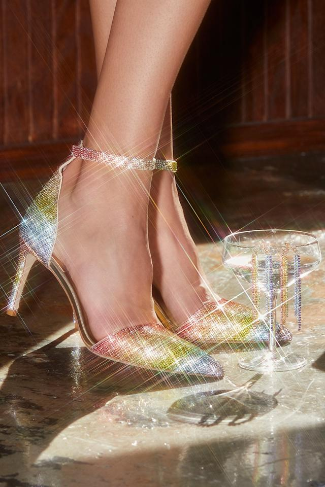 "<p>We can't refuse these rainbow <a href=""https://www.popsugar.com/buy/Jeffrey-Campbell-Grand-Prix-Heels-522487?p_name=Jeffrey%20Campbell%20Grand%20Prix%20Heels&retailer=freepeople.com&pid=522487&price=178&evar1=fab%3Aus&evar9=44216254&evar98=https%3A%2F%2Fwww.popsugar.com%2Ffashion%2Fphoto-gallery%2F44216254%2Fimage%2F46936310%2FJeffrey-Campbell-Grand-Prix-Heels&list1=holiday%2Cheels%2Choliday%20fashion&prop13=mobile&pdata=1"" rel=""nofollow"" data-shoppable-link=""1"" target=""_blank"" class=""ga-track"" data-ga-category=""Related"" data-ga-label=""https://www.freepeople.com/shop/grand-prix-heel/?category=heels-wedges&amp;color=095"" data-ga-action=""In-Line Links"">Jeffrey Campbell Grand Prix Heels</a> ($178)</p>"