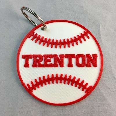 Baseball bag tag Baseball key chain end of season gift name tag sports keychain Baseball gift Baseball team gift
